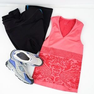 Reebok |Coral Pink Form Fitting Tank Activewear